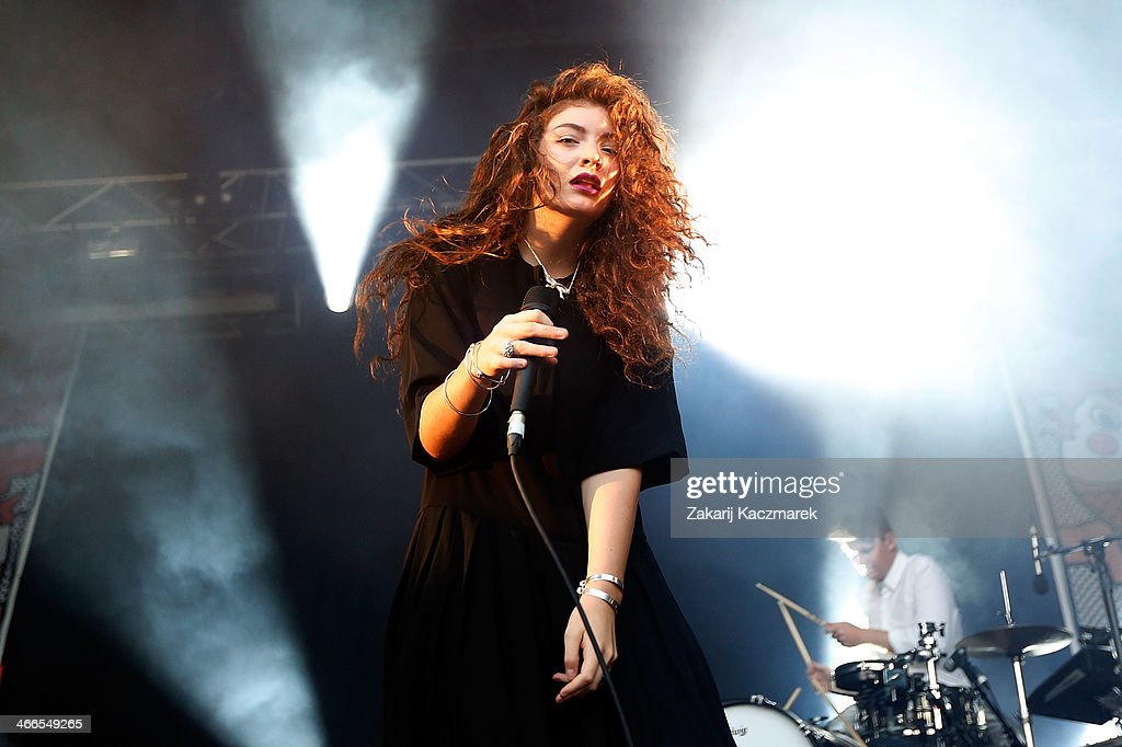 Lorde performs live on stage during the Laneway Festival on February 2 2014 in Sydney Australia