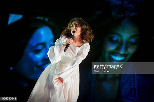 Lorde performs on Day 1 of the Osheaga Music and Art Festival at Parc JeanDrapeau on August 4 2017 in Montreal Canada