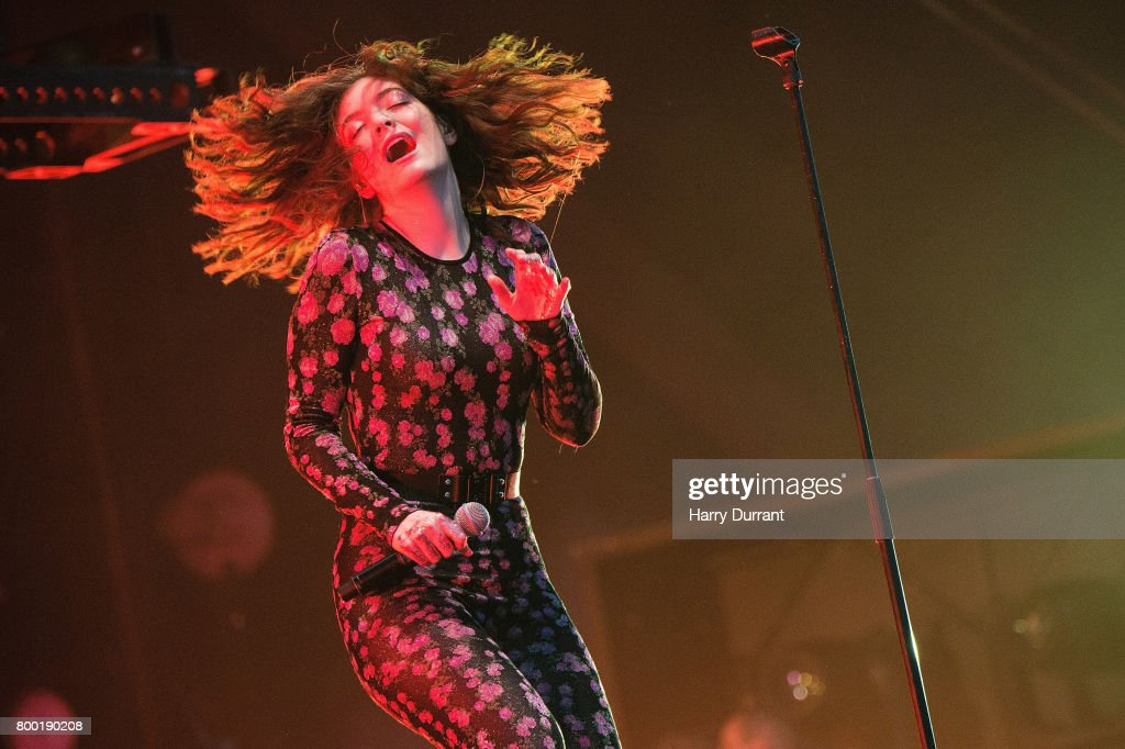 Lorde performs on day 2 of the Glastonbury Festival 2017 at Worthy Farm, Pilton on June 23, 2017 in Glastonbury, England.