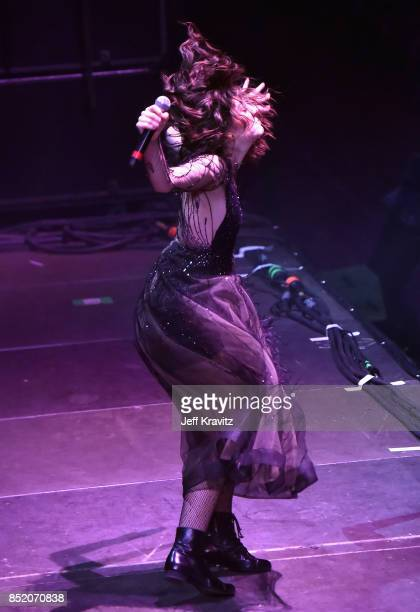 Lorde performs on Downtown Stage during day 1 of the 2017 Life Is Beautiful Festival on September 22 2017 in Las Vegas Nevada