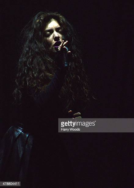 Lorde performs onstage at The Orpheum on March 14 2014 in Boston Massachusetts