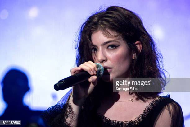 Lorde performs onstage during Fuji Rock Festival 2017 on July 30 2017 in Yuzawa Japan