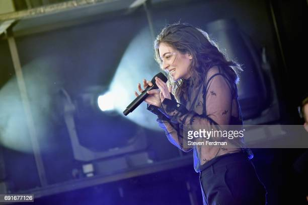 Lorde performs onstage during the 2017 Governors Ball Music Festival Day 1 at Randall's Island on June 2 2017 in New York City