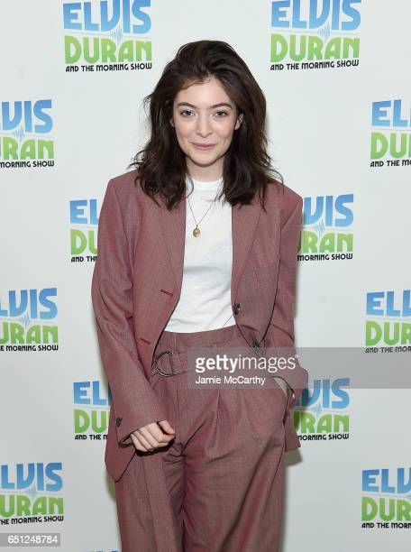 Lorde visits 'The Elvis Duran Z100 Morning Show' at Z100 Studio on March 10 2017 in New York City