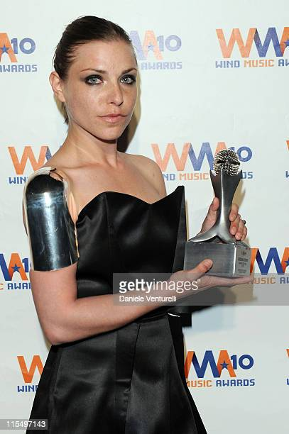ACCESS *** Loredana Errore attends the Wind Music Awards Backstage at the Arena of Verona on May 29 2010 in Verona Italy