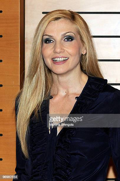 Lorella Cuccarini attends 'Il Pianeta Proibito' musical theatre photocall on February 23 2010 in Milan Italy