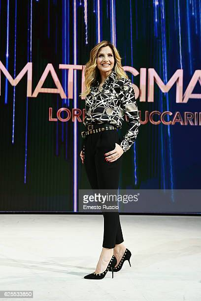 Lorella Cuccarini attends the 'Nemicamatissima' tv show presentation on November 24 2016 in Rome Italy