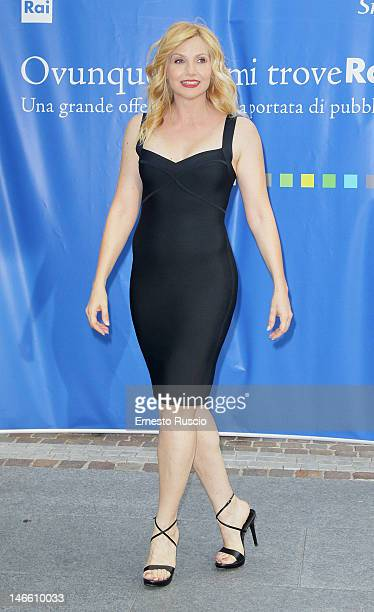 Lorella Cuccarini attends the Palinsesti Rai photocall at Cavalieri Hilton Hotel on June 20 2012 in Rome Italy