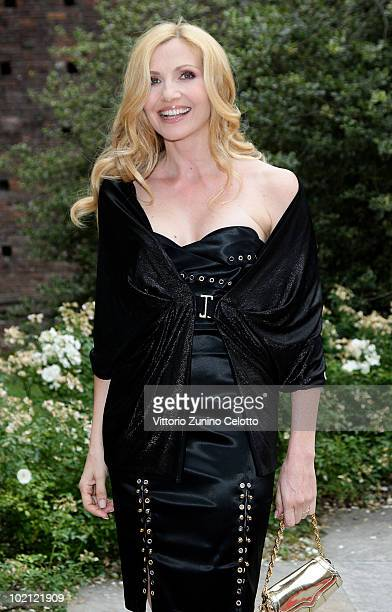 Lorella Cuccarini attends the RAI Autumn / Winter 2010 TV Schedule held at Castello Sforzesco on June 15 2010 in Milan Italy