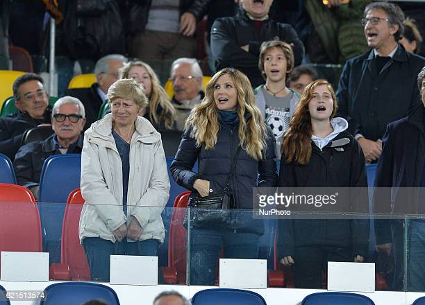Lorella Cuccarini during the Italian Serie A football match between AS Roma and FC Bologna at the Olympic Stadium in Rome on november 06 2016
