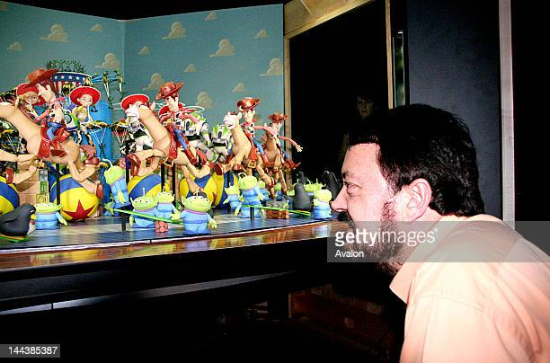 Loren Carpenter Oscar winning Senior Scientist at Pixar at the Science Museum Carpenter is inspecting the Pixar Zoetrope a project that he served on...
