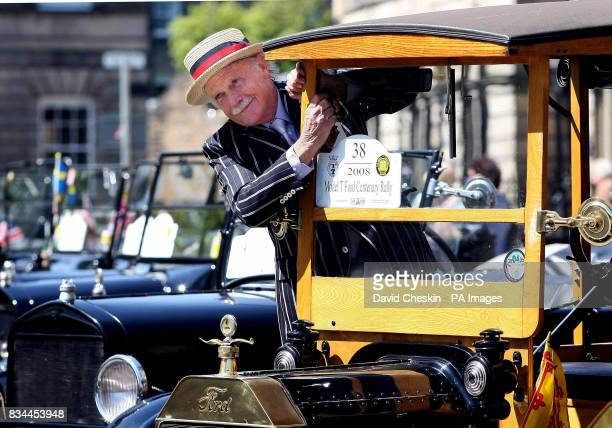 Loren Hufsetter with one of 89 Ford Model T cars that took part in a parade through Edinburgh to celebrate the centenary of the classic car