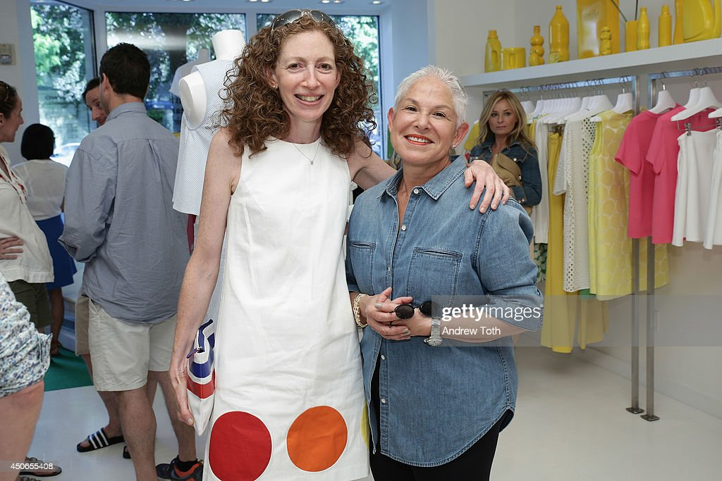 Loren Pack (L) and Adele Wiseman attend Hamptons Magazine celebrates The New Lisa Perry store on June 14, 2014 in East Hampton, New York.