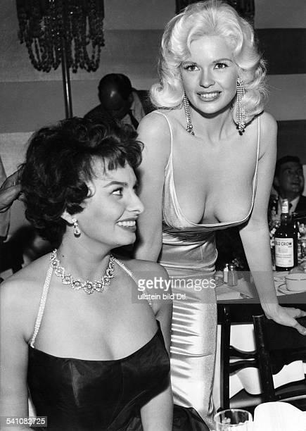 Loren Sophia * Schauspielerin Italien mit Jayne Mansfield in Hollywood 1957