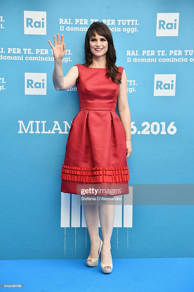 Lorena Bianchetti attends Rai Show Schedule Presentation In Milan on June 28, 2016 in Milan, Italy.