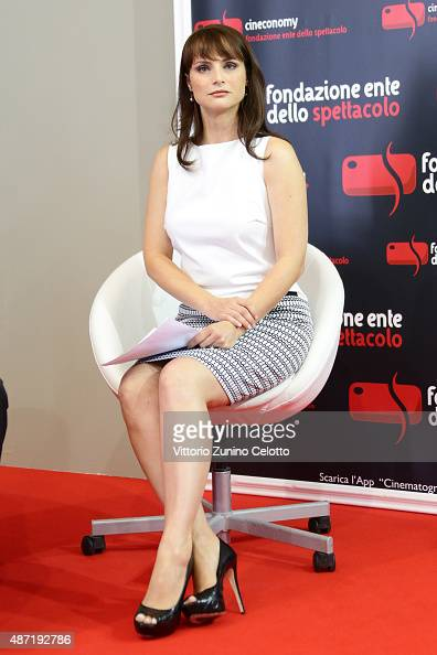 Lorena Bianchetti attends the Bresson Award Ceremony during the 72nd Venice Film Festival at Excelsior Hotel on September 7 2015 in Venice Italy