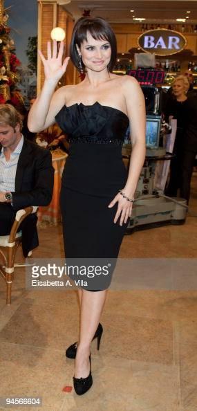 Lorena Bianchetti attends the Italian TV program '2009 Horoscope' by Paolo Fox at RAI studios on December 16 2009 in Rome Italy
