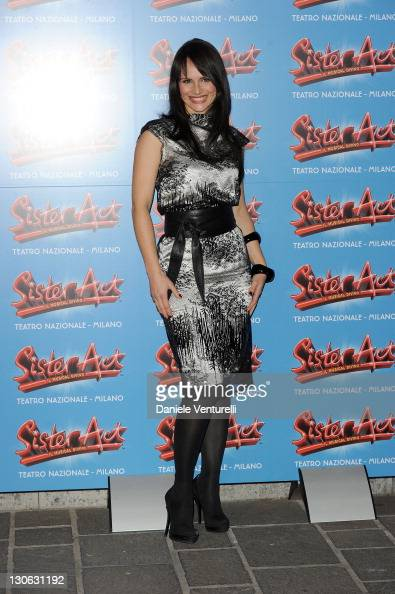 Lorena Bianchetti attends the 'Sister Act' Theatre Premiere At The Teatro Nazionale on October 27 2011 in Milan Italy