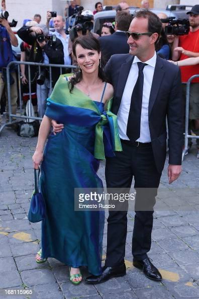 Lorena Bianchetti attends the Valeria Marini And Giovanni Cottone wedding at Ara Coeli on May 5 2013 in Rome Italy