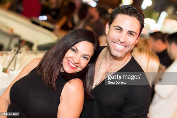 Lorena Linares and Actor Carlo Mendez attend the Cast Premiere Screening Of Lany Entertainment's 'The Bay' Season 3 After Party at 33 Taps Hollywood...