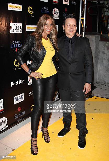 Lorena Rojas and Marcos Carrasquillo attend the Yellow Nights event to benefit the Lance Armstrong Foundation on December 16 2009 in Miami Florida