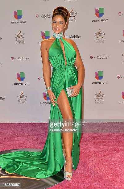 Lorena Rojas arrives at the 25th Anniversary Of Univision's 'Premio Lo Nuestro A La Musica Latina' on February 21 2013 in Miami Florida