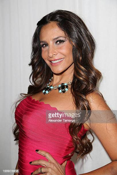 Lorena Rojas attends Miami Hair Beauty Fashion 2012 By Rocco Donna at Viceroy Hotel Spa on November 8 2012 in Miami Florida