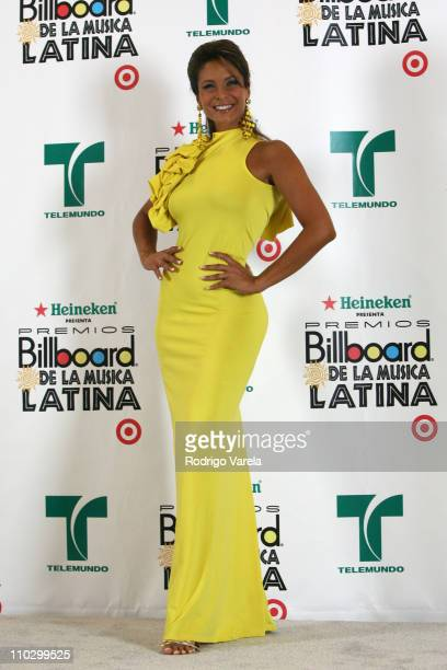 Lorena Rojas during Billboard Latin Music Conference and Awards 2007 Press Room at Bank United Center in Coral Gables Florida United States