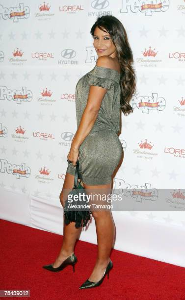Lorena Rojas poses during arrivals at the People en Espanol star of the year celebration on December 12 2007 in Miami Florida