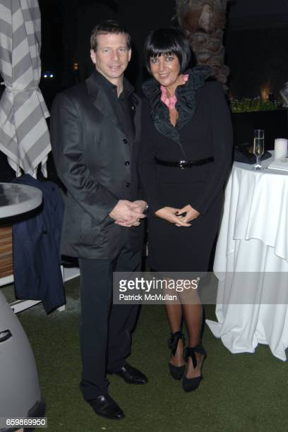 Lorenz Baumer and Larissa Sabadash attend Lorenz Baumer Private Dinner in Celebration of his Paris Fine Jewelry Collection at The London West...