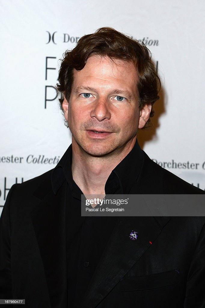 Lorenz Baumer attends the 2013 Launch of the Dorchester Collection Fashion Prize 2013 at Hotel Plaza Athenee on May 3, 2013 in Paris, France.