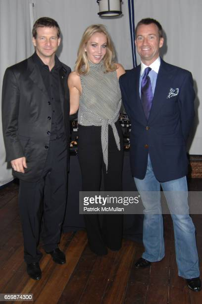 Lorenz Baumer Brooke Davenport and Alex Hitz attend Lorenz Baumer Private Dinner in Celebration of his Paris Fine Jewelry Collection at The London...