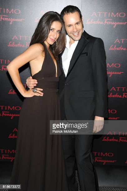 Lorenza Gentile and Massimiliano Giornetti attend SALVATORE FERRAGAMO ATTIMO Launch Event at The Standard Hotel on June 30 2010 in New York City