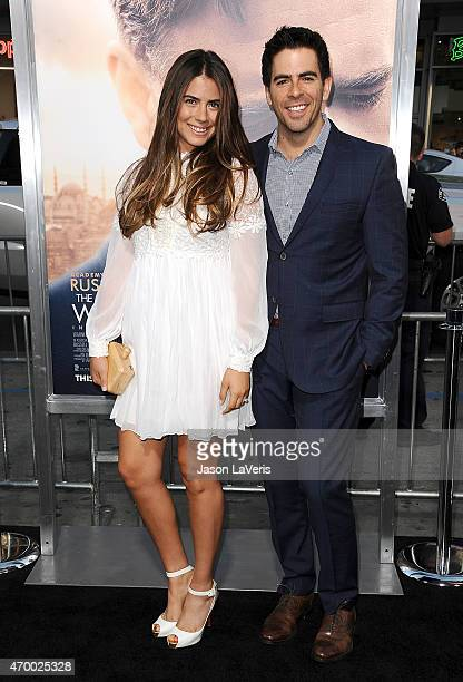 Lorenza Izzo and Eli Roth attend the premiere of 'The Water Diviner' at TCL Chinese Theatre IMAX on April 16 2015 in Hollywood California