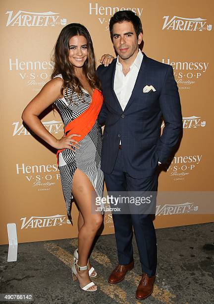 Lorenza Izzo and Eli Roth attend Variety Latino's 10 Latinos to Watch held at Avalon Hollywood on September 30 2015 in Los Angeles California