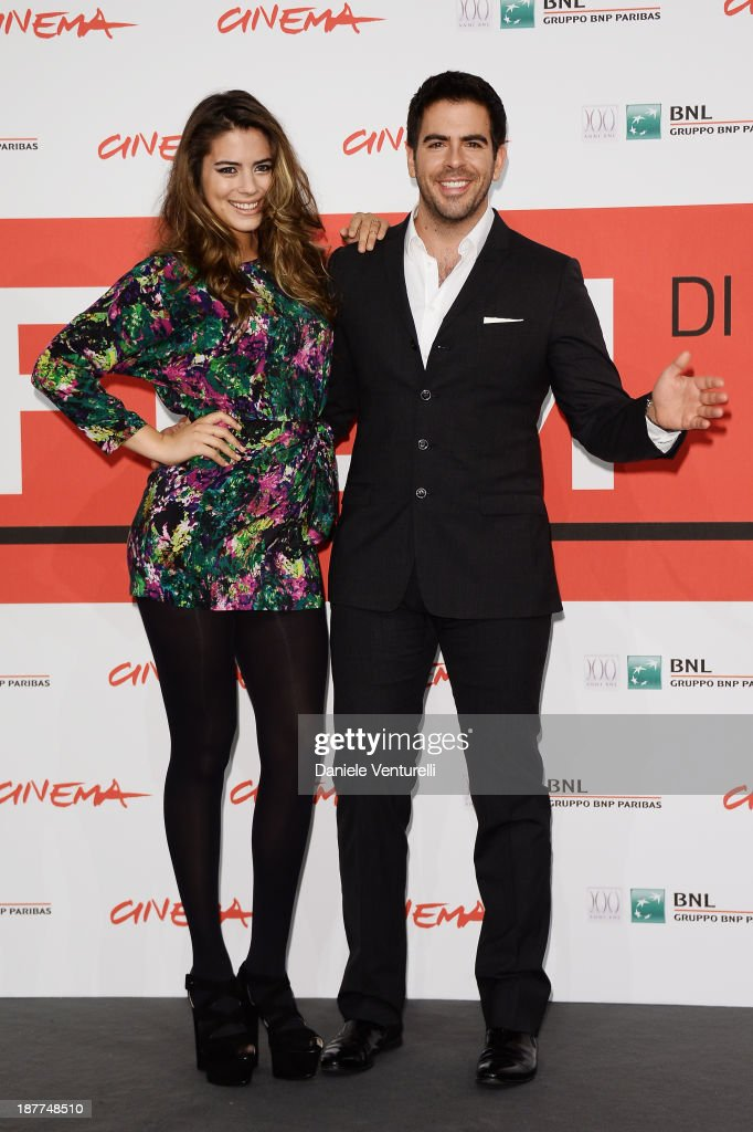<a gi-track='captionPersonalityLinkClicked' href=/galleries/search?phrase=Lorenza+Izzo&family=editorial&specificpeople=7050477 ng-click='$event.stopPropagation()'>Lorenza Izzo</a> and <a gi-track='captionPersonalityLinkClicked' href=/galleries/search?phrase=Eli+Roth&family=editorial&specificpeople=543948 ng-click='$event.stopPropagation()'>Eli Roth</a> attends the 'The Green Inferno' Photocall during the 8th Rome Film Festival at the Auditorium Parco Della Musica on November 12, 2013 in Rome, Italy.