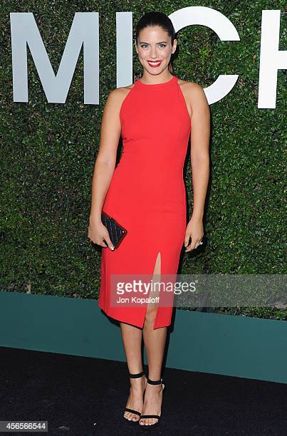Lorenza Izzo arrives at Michael Kors Celebrates The Launch Of Claiborne Swanson Frank's 'Young Hollywood' Portrait Book on October 2 2014 in Beverly...
