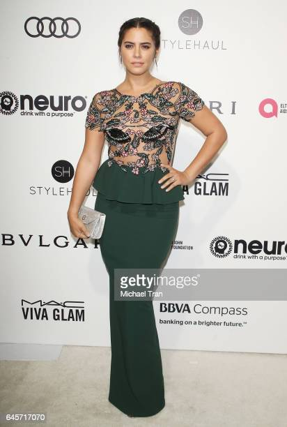 Lorenza Izzo arrives at the 25th Annual Elton John AIDS Foundation's Oscar viewing party held at The City of West Hollywood Park on February 26 2017...