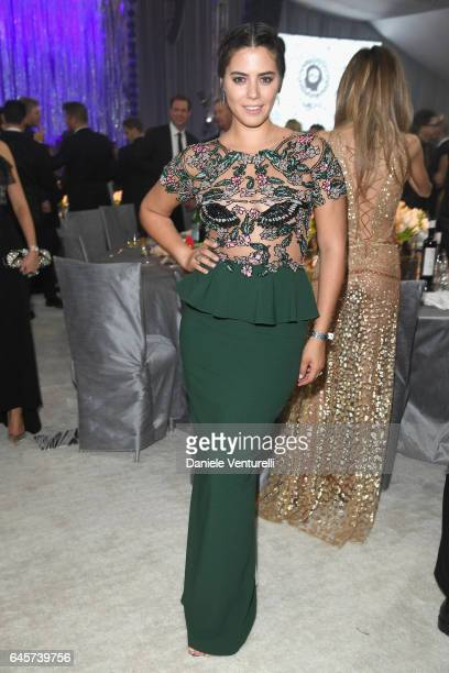Lorenza Izzo attends Bulgari at the 25th Annual Elton John AIDS Foundation's Academy Awards Viewing Party at on February 26 2017 in Los Angeles...