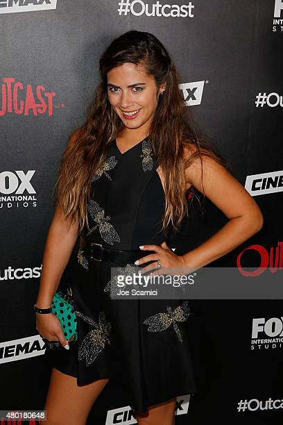 Lorenza Izzo attends FOX International Studios' ComicCon Party Celebrating Robert Kirkman's New Drama 'Outcast' at Andaz Hotel on July 9 2015 in San...