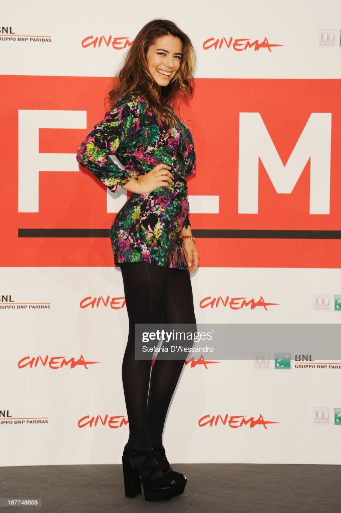 <a gi-track='captionPersonalityLinkClicked' href=/galleries/search?phrase=Lorenza+Izzo&family=editorial&specificpeople=7050477 ng-click='$event.stopPropagation()'>Lorenza Izzo</a> attends the 'The Green Inferno' Photocall during the 8th Rome Film Festival at the Auditorium Parco Della Musica on November 12, 2013 in Rome, Italy.