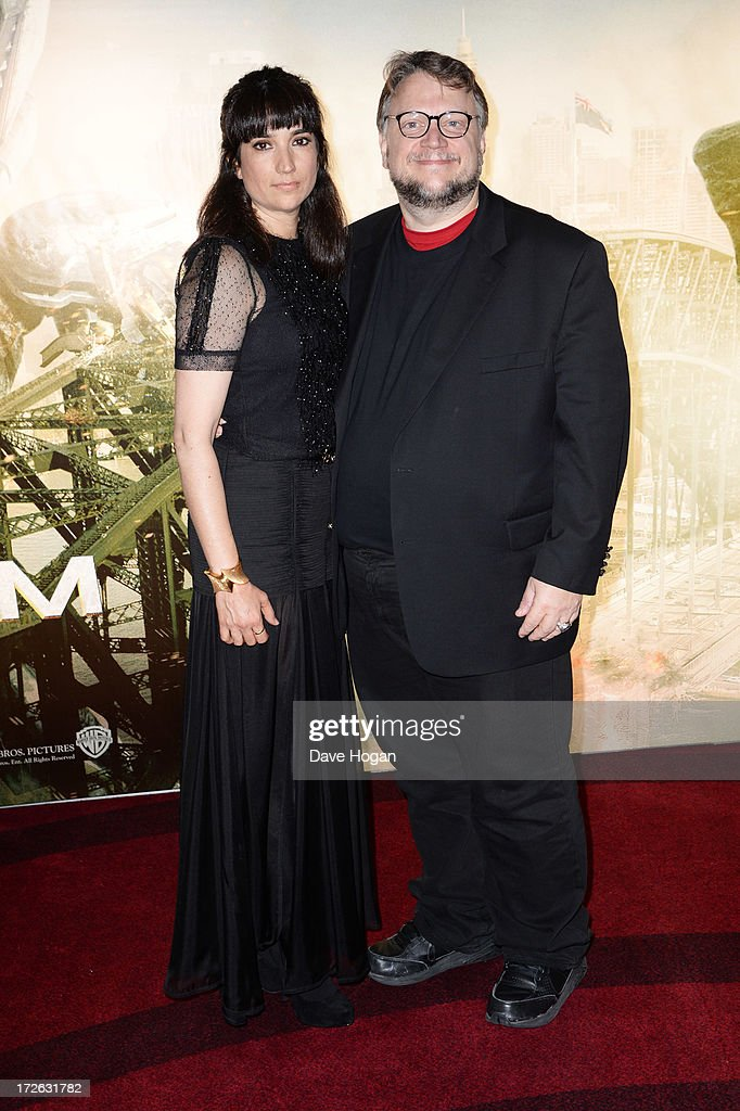 Lorenza Newton and <a gi-track='captionPersonalityLinkClicked' href=/galleries/search?phrase=Guillermo+del+Toro&family=editorial&specificpeople=609181 ng-click='$event.stopPropagation()'>Guillermo del Toro</a> attend the European premiere of 'Pacific Rim' at The BFI IMAX on July 4, 2013 in London, England.