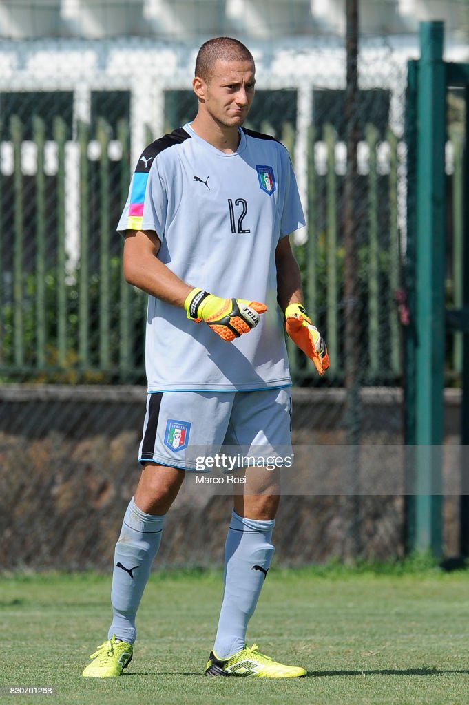 Lorenzo Andrenacci of Italy during the frienldy match between Italy University and ASD Audace on August 12, 2017 in Rome, Italy.
