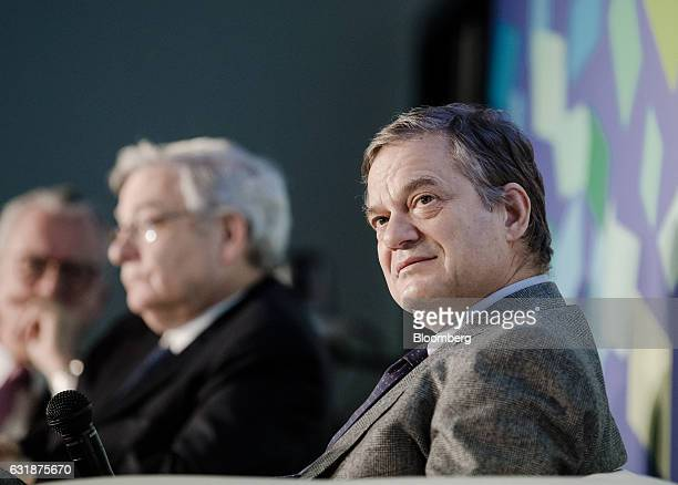 Lorenzo Bini Smaghi chairman of Societe Generale SA looks on during the Euronext NV annual news conference in Paris France on Tuesday Jan 17 2017 New...