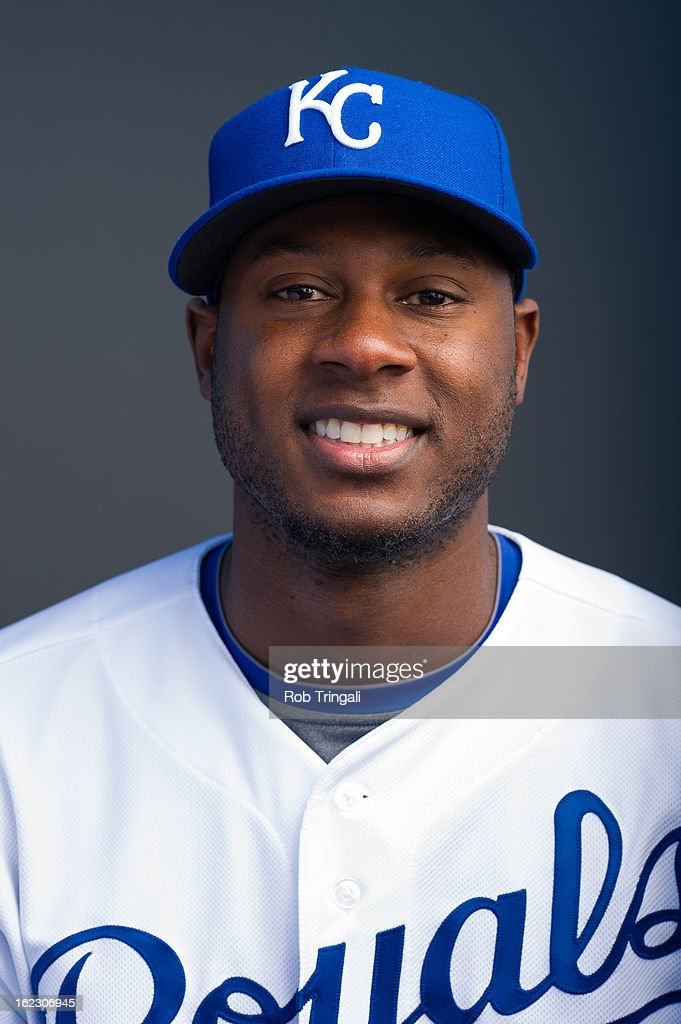 Lorenzo Cain #6 of the Kansas City Royals poses for a portrait on photo day at the Surprise Sports Complex on February 21, 2013 in Surprise, Arizona.