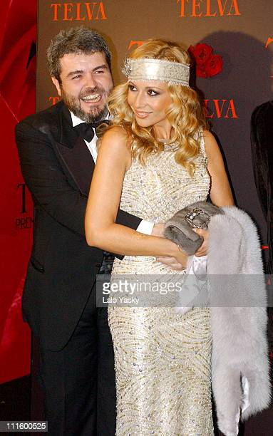 Lorenzo Caprile and Marta Sanchez during 2004 TELVA Magazine Fashion Awards at Alcala Theatre in Madrid Spain