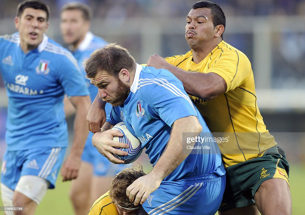 Lorenzo Cittadini of Italy during the international rugby test match between Italy and Australia at Artemio Franchi on November 24, 2012 in Florence, Italy.