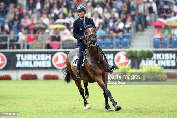 Lorenzo DE LUCA riding ENSOR DE LITRANGE LXII during the Rolex Grand Prix part of the Rolex Grand Slam of Show Jumping of the World Equestrian...