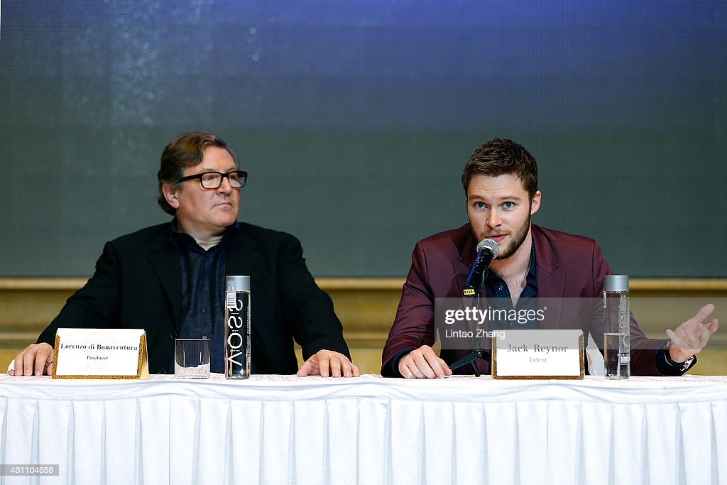 Lorenzo di Bonaventura and Jack Reynor attends the press conference at Pangu Hotel on June 23 2014 in Beijing China