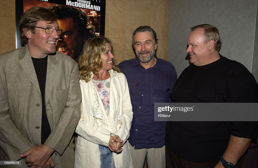 Lorenzo di Bonaventura Warner Bros EVP of Worldwide Motion Pictures Frances McDormand Robert De Niro and George Dzundza